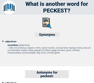 peckest, synonym peckest, another word for peckest, words like peckest, thesaurus peckest