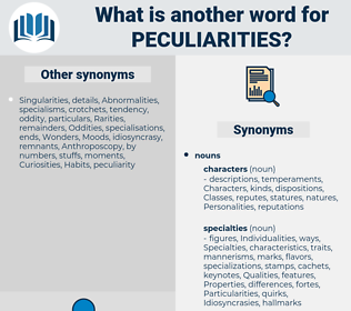 Peculiarities, synonym Peculiarities, another word for Peculiarities, words like Peculiarities, thesaurus Peculiarities