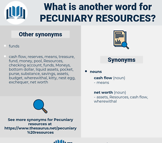 pecuniary resources, synonym pecuniary resources, another word for pecuniary resources, words like pecuniary resources, thesaurus pecuniary resources