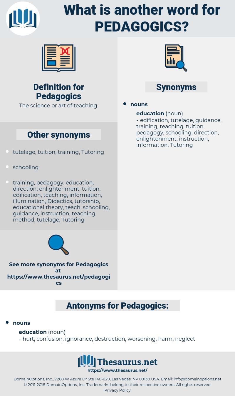 Pedagogics, synonym Pedagogics, another word for Pedagogics, words like Pedagogics, thesaurus Pedagogics
