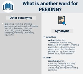 peeking, synonym peeking, another word for peeking, words like peeking, thesaurus peeking