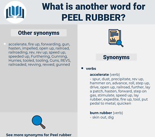 peel rubber, synonym peel rubber, another word for peel rubber, words like peel rubber, thesaurus peel rubber