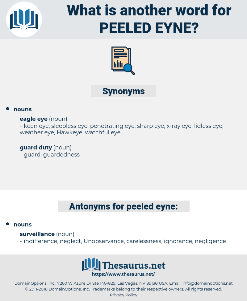 peeled eyne, synonym peeled eyne, another word for peeled eyne, words like peeled eyne, thesaurus peeled eyne