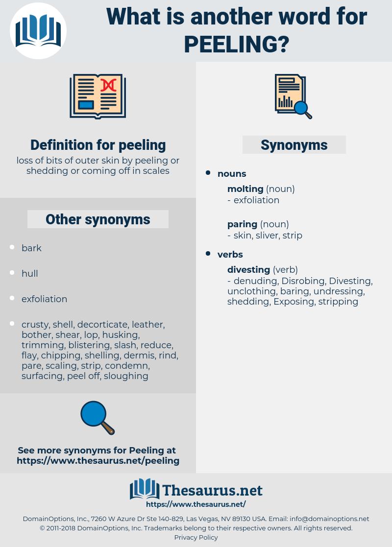 peeling, synonym peeling, another word for peeling, words like peeling, thesaurus peeling