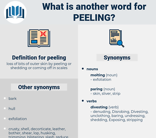 peeling, synonym peeling, another word for peeling, words like peeling, thesaurus peeling