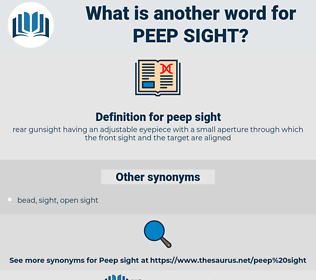 peep sight, synonym peep sight, another word for peep sight, words like peep sight, thesaurus peep sight