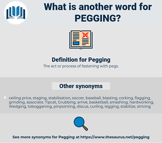 Pegging, synonym Pegging, another word for Pegging, words like Pegging, thesaurus Pegging