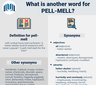 pell-mell, synonym pell-mell, another word for pell-mell, words like pell-mell, thesaurus pell-mell