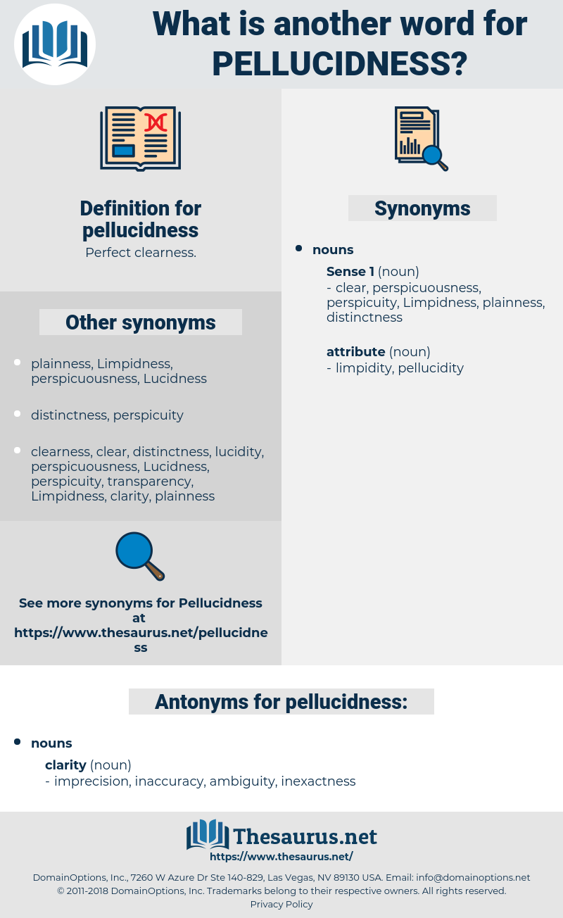 pellucidness, synonym pellucidness, another word for pellucidness, words like pellucidness, thesaurus pellucidness