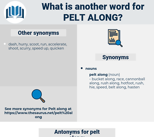 pelt along, synonym pelt along, another word for pelt along, words like pelt along, thesaurus pelt along