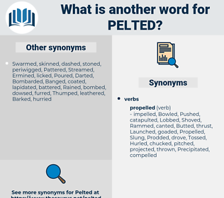 Pelted, synonym Pelted, another word for Pelted, words like Pelted, thesaurus Pelted