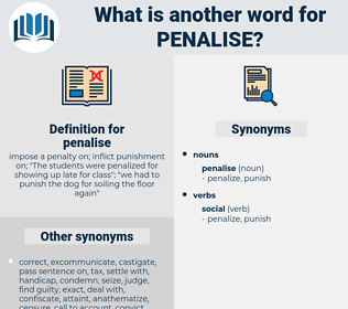 penalise, synonym penalise, another word for penalise, words like penalise, thesaurus penalise