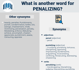 penalizing, synonym penalizing, another word for penalizing, words like penalizing, thesaurus penalizing