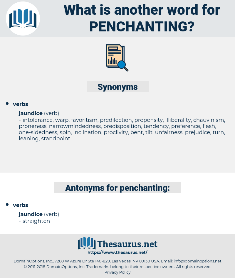 penchanting, synonym penchanting, another word for penchanting, words like penchanting, thesaurus penchanting