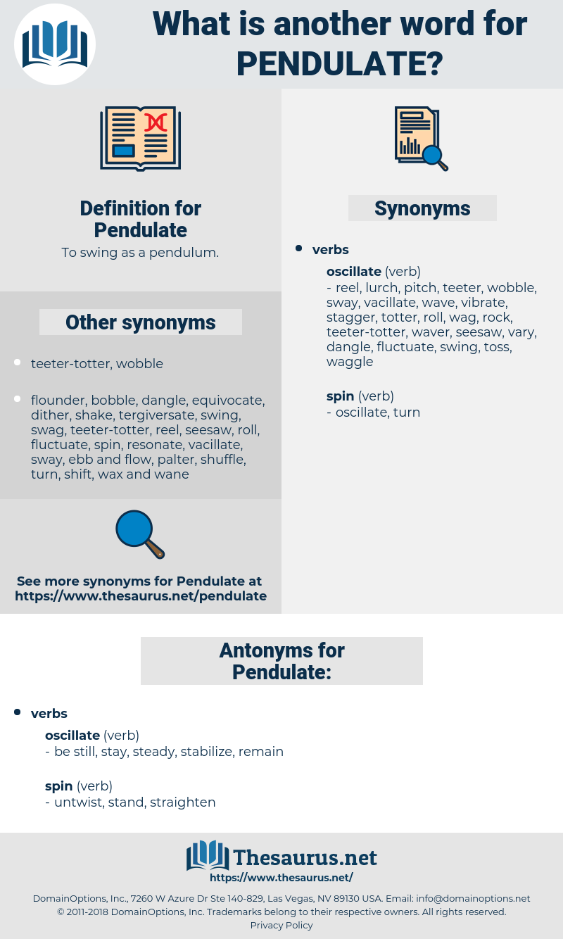 Pendulate, synonym Pendulate, another word for Pendulate, words like Pendulate, thesaurus Pendulate