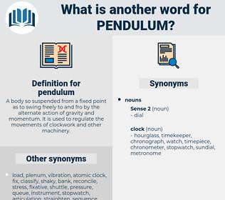 pendulum, synonym pendulum, another word for pendulum, words like pendulum, thesaurus pendulum