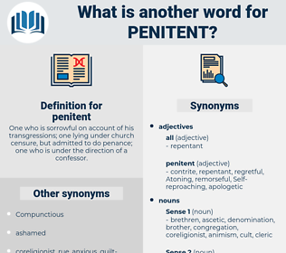 penitent, synonym penitent, another word for penitent, words like penitent, thesaurus penitent