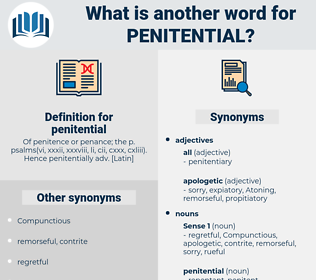 penitential, synonym penitential, another word for penitential, words like penitential, thesaurus penitential