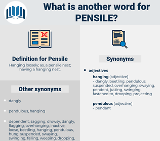 Pensile, synonym Pensile, another word for Pensile, words like Pensile, thesaurus Pensile