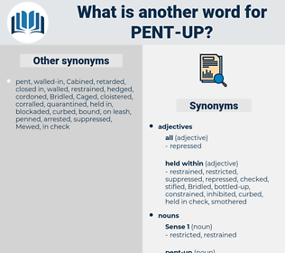 pent-up, synonym pent-up, another word for pent-up, words like pent-up, thesaurus pent-up