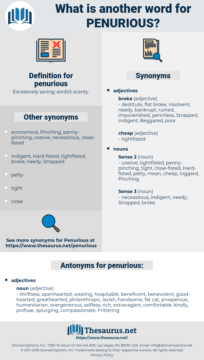 penurious, synonym penurious, another word for penurious, words like penurious, thesaurus penurious