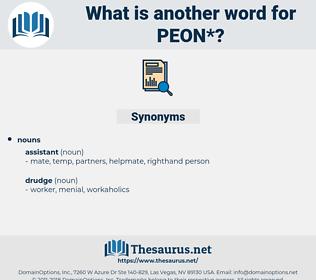 peon, synonym peon, another word for peon, words like peon, thesaurus peon