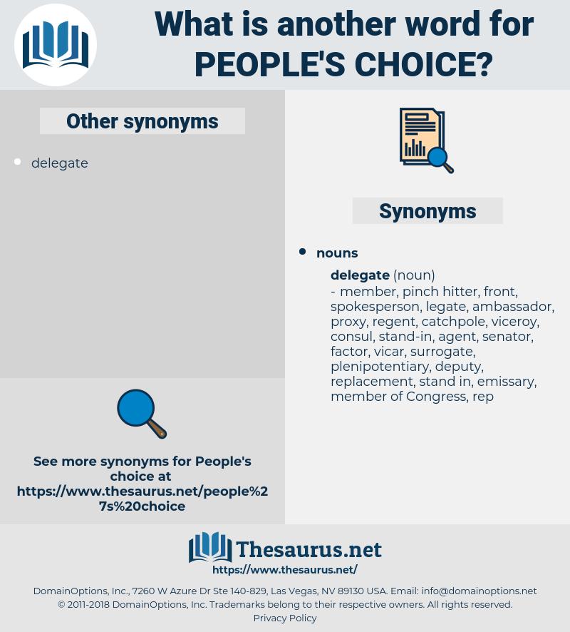 people's choice, synonym people's choice, another word for people's choice, words like people's choice, thesaurus people's choice