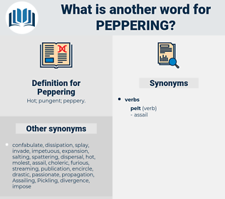 Peppering, synonym Peppering, another word for Peppering, words like Peppering, thesaurus Peppering
