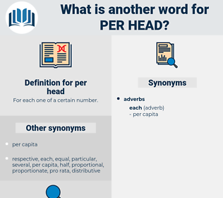 per head, synonym per head, another word for per head, words like per head, thesaurus per head