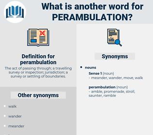 perambulation, synonym perambulation, another word for perambulation, words like perambulation, thesaurus perambulation