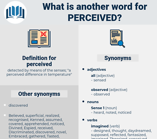perceived, synonym perceived, another word for perceived, words like perceived, thesaurus perceived