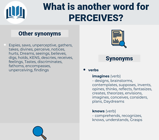 perceives, synonym perceives, another word for perceives, words like perceives, thesaurus perceives