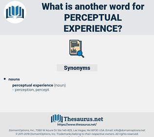 perceptual experience, synonym perceptual experience, another word for perceptual experience, words like perceptual experience, thesaurus perceptual experience