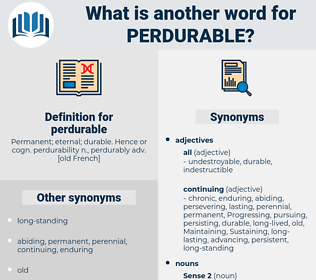 perdurable, synonym perdurable, another word for perdurable, words like perdurable, thesaurus perdurable