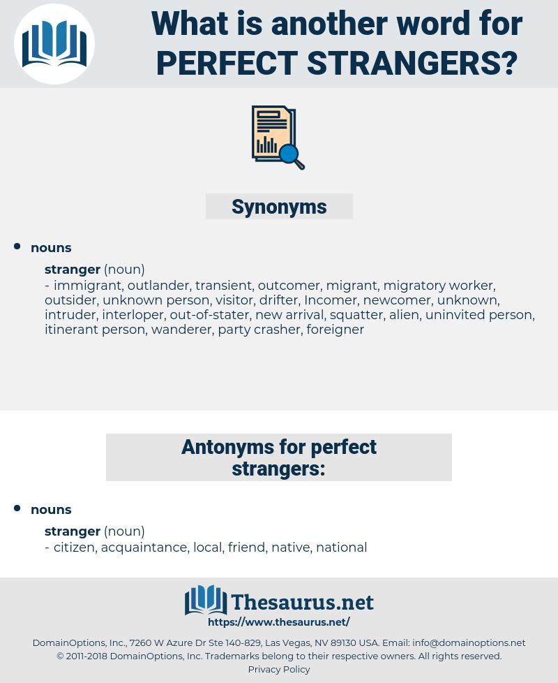 perfect strangers, synonym perfect strangers, another word for perfect strangers, words like perfect strangers, thesaurus perfect strangers