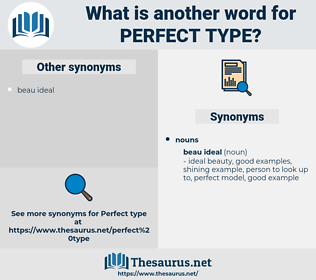 perfect type, synonym perfect type, another word for perfect type, words like perfect type, thesaurus perfect type