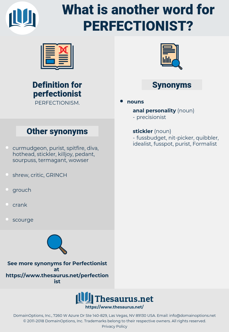 perfectionist, synonym perfectionist, another word for perfectionist, words like perfectionist, thesaurus perfectionist