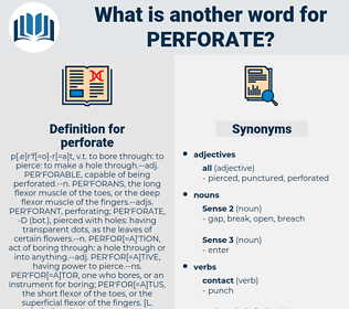 perforate, synonym perforate, another word for perforate, words like perforate, thesaurus perforate