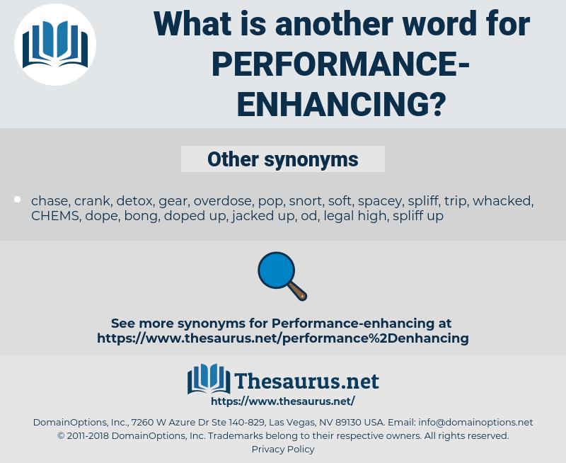 performance-enhancing, synonym performance-enhancing, another word for performance-enhancing, words like performance-enhancing, thesaurus performance-enhancing