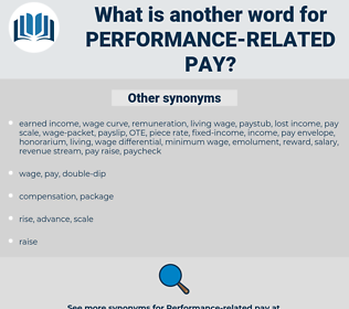 performance-related pay, synonym performance-related pay, another word for performance-related pay, words like performance-related pay, thesaurus performance-related pay