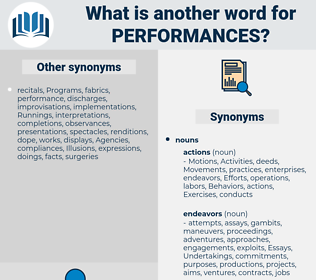 performances, synonym performances, another word for performances, words like performances, thesaurus performances