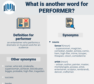 performer, synonym performer, another word for performer, words like performer, thesaurus performer