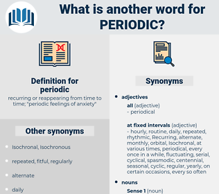 periodic, synonym periodic, another word for periodic, words like periodic, thesaurus periodic