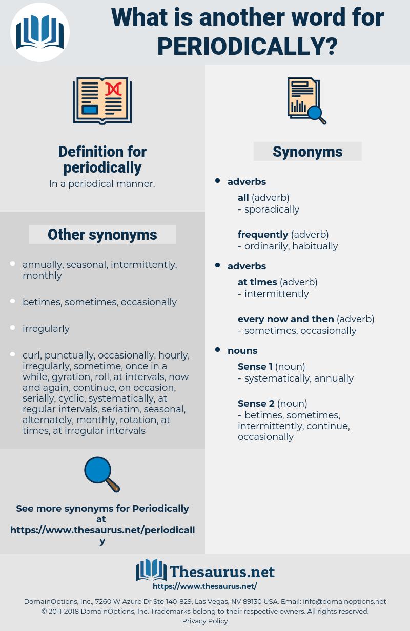 periodically, synonym periodically, another word for periodically, words like periodically, thesaurus periodically