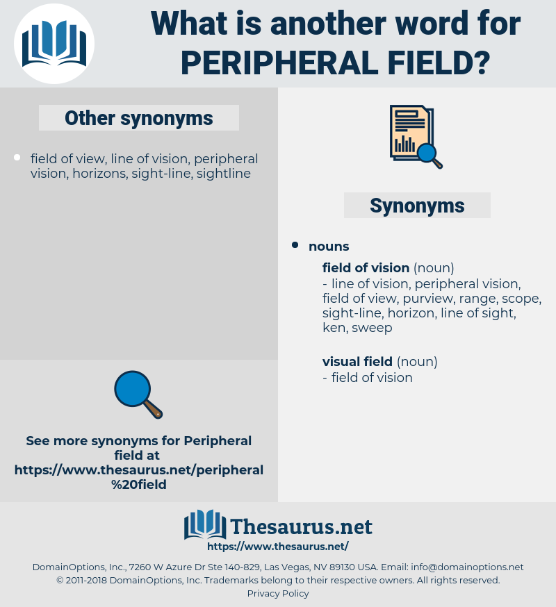 peripheral field, synonym peripheral field, another word for peripheral field, words like peripheral field, thesaurus peripheral field