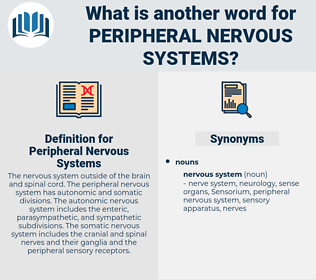 Peripheral Nervous Systems, synonym Peripheral Nervous Systems, another word for Peripheral Nervous Systems, words like Peripheral Nervous Systems, thesaurus Peripheral Nervous Systems