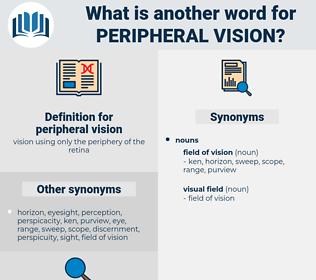 peripheral vision, synonym peripheral vision, another word for peripheral vision, words like peripheral vision, thesaurus peripheral vision