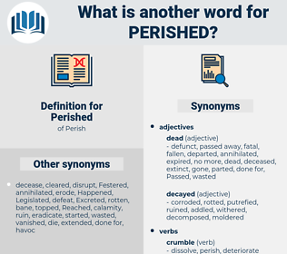 Perished, synonym Perished, another word for Perished, words like Perished, thesaurus Perished