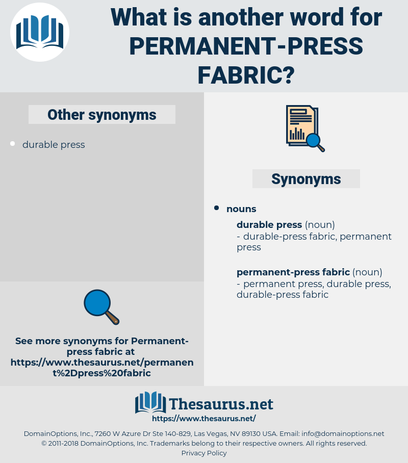 permanent-press fabric, synonym permanent-press fabric, another word for permanent-press fabric, words like permanent-press fabric, thesaurus permanent-press fabric