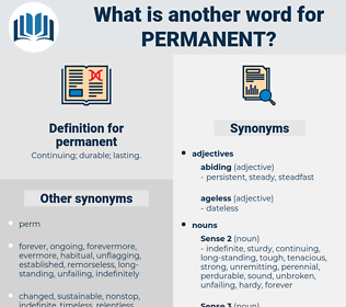 permanent, synonym permanent, another word for permanent, words like permanent, thesaurus permanent
